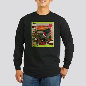 the scream christmas Long Sleeve T-Shirt
