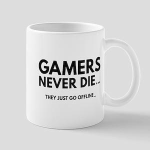 Gamers Never Die Mug