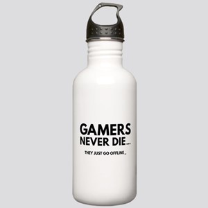 Gamers Never Die Stainless Water Bottle 1.0L