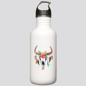 Colorful Bull Horns & Stainless Water Bottle 1.0L