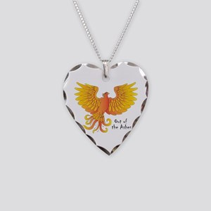 Phoenix Necklace Heart Charm