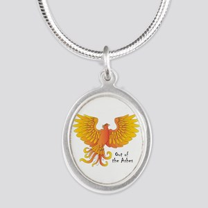 Phoenix Silver Oval Necklace Necklaces