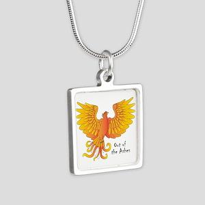 Phoenix Silver Square Necklace