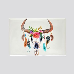 Colorful Bull Horns & Skull Flowers & Feat Magnets