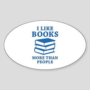 I Like Books Sticker (Oval)
