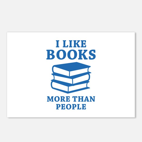 I Like Books Postcards (Package of 8)