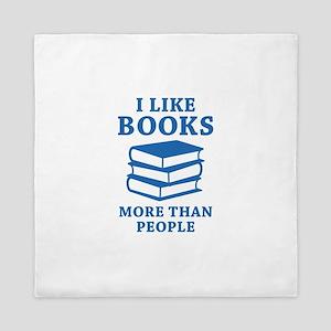 I Like Books Queen Duvet