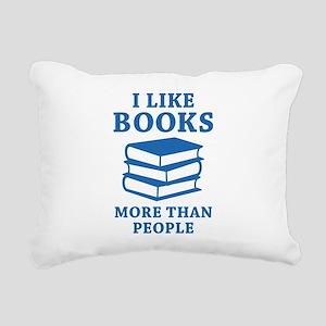 I Like Books Rectangular Canvas Pillow