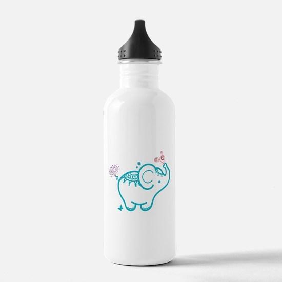 Cute Baby Elephant Ill Water Bottle