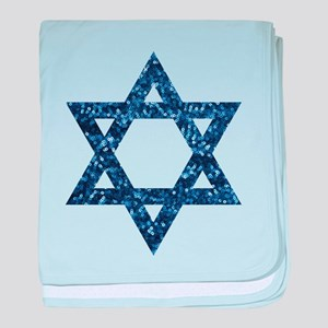 sequin star of david baby blanket