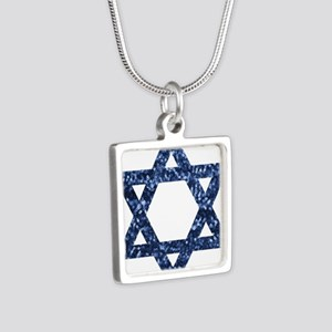 sequin star of david Necklaces