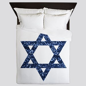 sequin star of david Queen Duvet