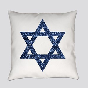 sequin star of david Everyday Pillow