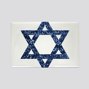 sequin star of david Magnets