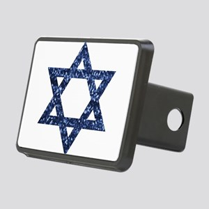 sequin star of david Rectangular Hitch Cover