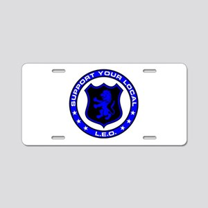 LEO Supporter Aluminum License Plate