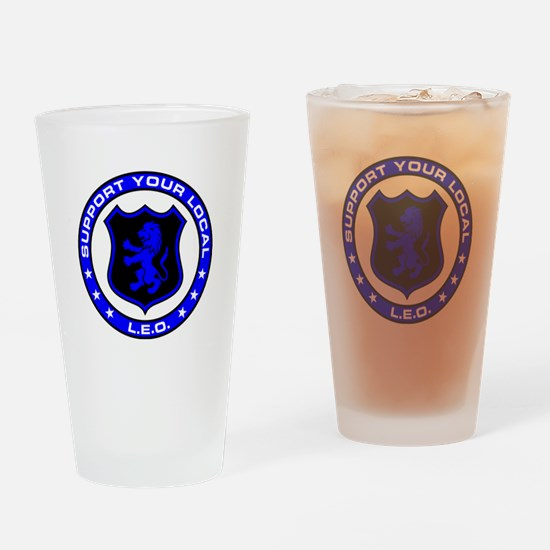 LEO Supporter Drinking Glass