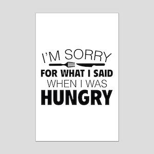 I'm Sorry For What I Said Mini Poster Print