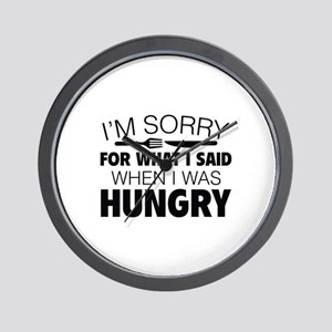 I'm Sorry For What I Said Wall Clock