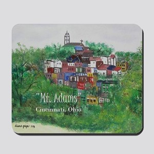 Mt. Adams - Cincinnati, Ohio, trendy art Mousepad