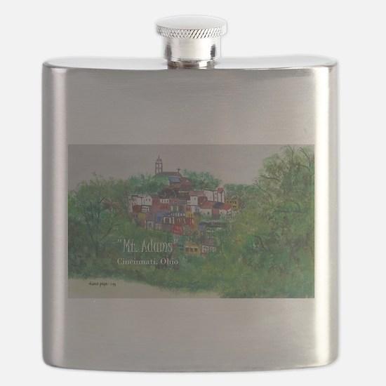 Mt. Adams - Cincinnati, Ohio, trendy art com Flask
