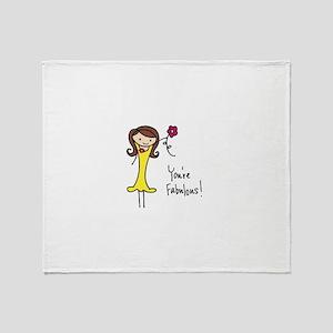 Fabulous Flo Throw Blanket