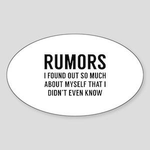 Rumors Sticker (Oval)
