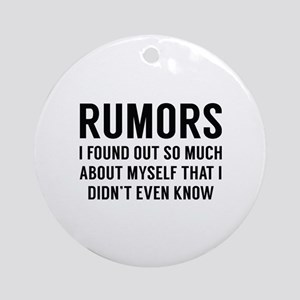 Rumors Ornament (Round)
