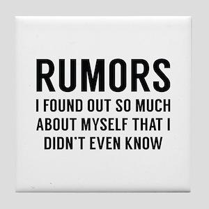 Rumors Tile Coaster