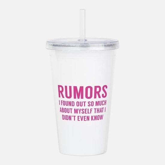 Rumors Acrylic Double-wall Tumbler