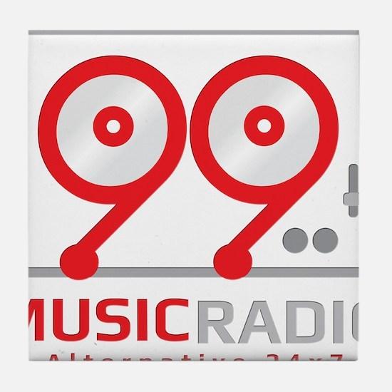 Cute Radio station Tile Coaster