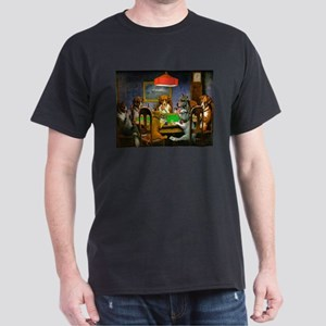 Dogs Playing Poker Dark T-Shirt