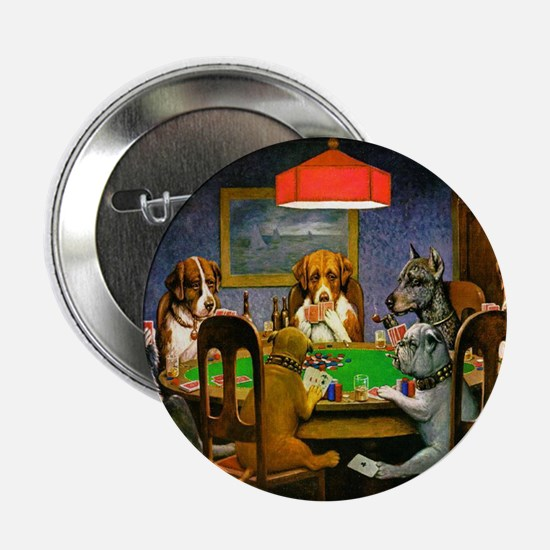 Dogs Playing Poker Button
