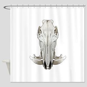 Hog skull Shower Curtain