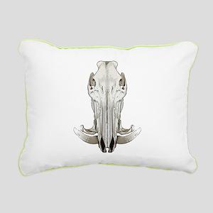 Hog skull Rectangular Canvas Pillow