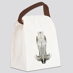 Hog skull Canvas Lunch Bag