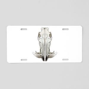 Hog skull Aluminum License Plate