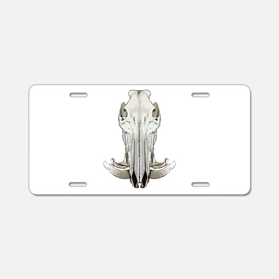 Hog skull Aluminum License Plate