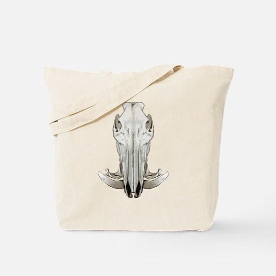 Hog skull Tote Bag