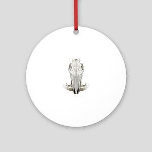 Hog skull Round Ornament