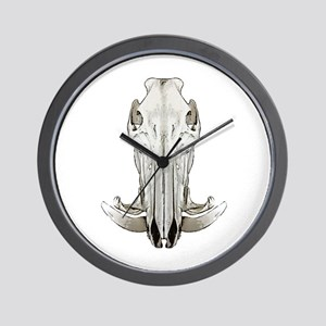 Hog skull Wall Clock