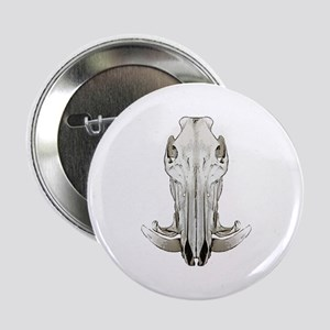 "Hog skull 2.25"" Button"
