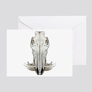 Hog skull Greeting Card