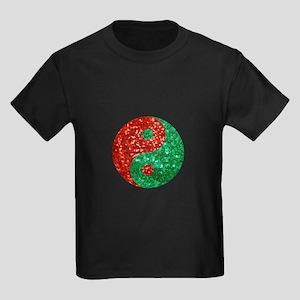 sequin yin yang christmas T-Shirt