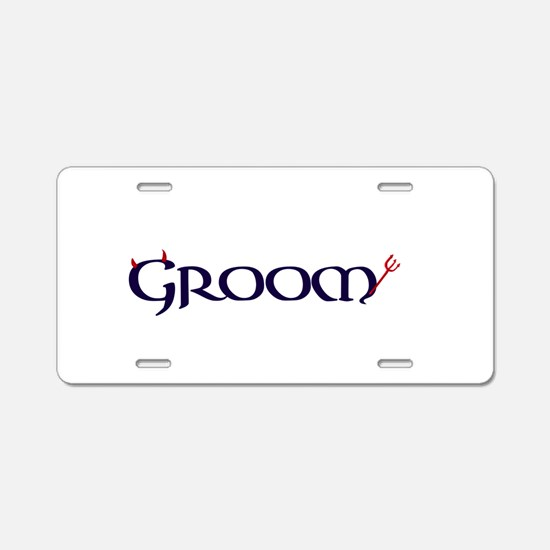 The Groom Aluminum License Plate