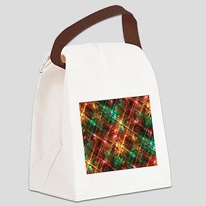 christmas tree lights Canvas Lunch Bag