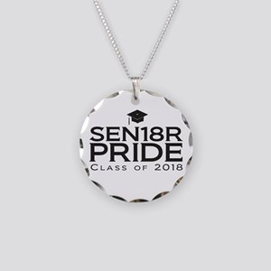 Senior Pride - Class of 2018 Necklace Circle Charm