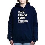 Eat-Sleep-Flair Women's Hooded Sweatshirt