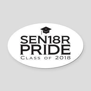 Senior Pride - Class of 2018 Oval Car Magnet