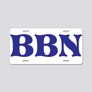 Bbn Aluminum License Plate